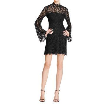 Bardot Womens Sansa Clubwear Dress Crochet Scalloped