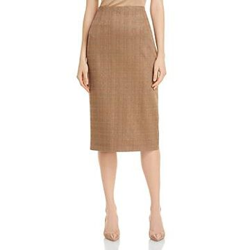 Boss Vericana Plaid Pencil Skirt
