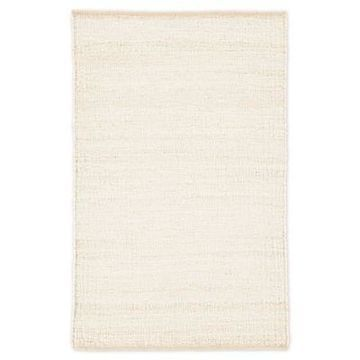 Jaipur Anthro Solid 9' x 12' Hand-Woven Area Rug in Cream