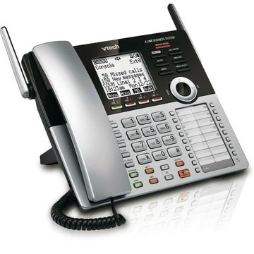 VTech CM18445 Main Console - DECT 6.0 4-Line Expandable Small Business Office...