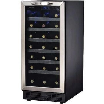 Danby 34 Bottle Free Standing or Built-In Wine Cooler (Stainless Trim Reversible Door Hinge)