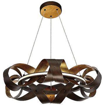 Eurofase Banderia LED Chandelier - Color: Bronze - Size: Small - 30081-017