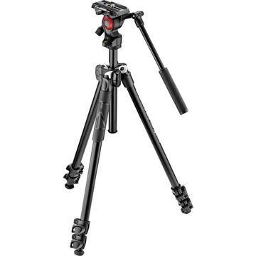 Manfrotto - 290 Tripod with Fluid Video Head - Black