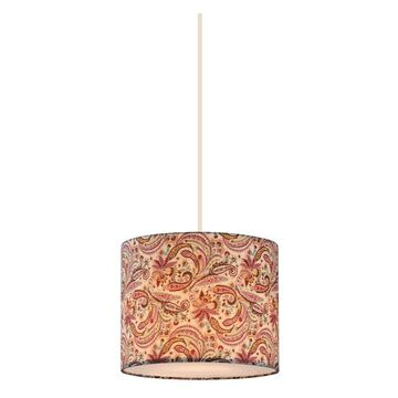 Zlite 204-10 Astra 1 Light Pendant in White with Pink & Burgundy Shade