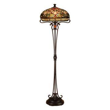 Dale Tiffany 2-Light Briar Dragonfly Floor Lamp, Antique Bronze