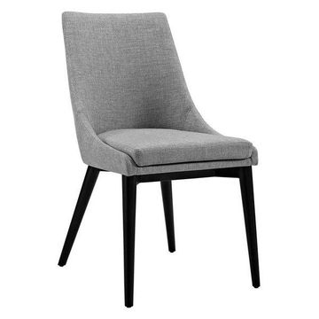 Modway Modway Viscount Fabric Dining Chair, Light Gray