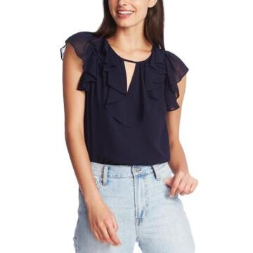1.state Ruffled Keyhole Top
