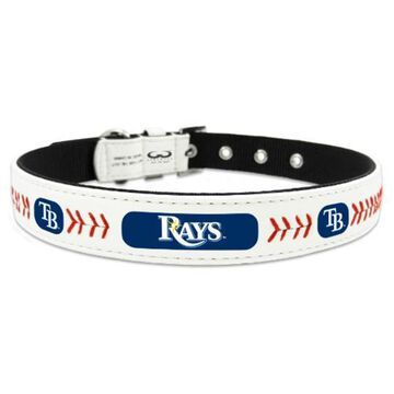 Tampa Bay Rays Classic Leather Collar - White