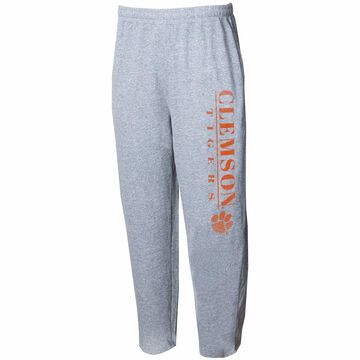 Clemson Tigers Concepts Sport Tri-Blend Mainstream Terry Pants Gray