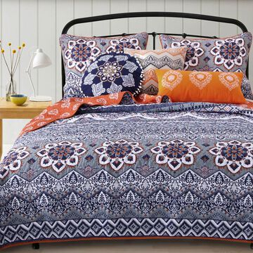 Greendale Home Fashions Medina Saffron Bedding Set
