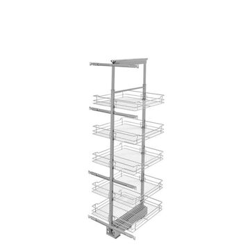 Rev-A-Shelf 20-in W x 74-in H 5-Tier Pull Out Metal Soft Close Baskets & Organizers in Chrome