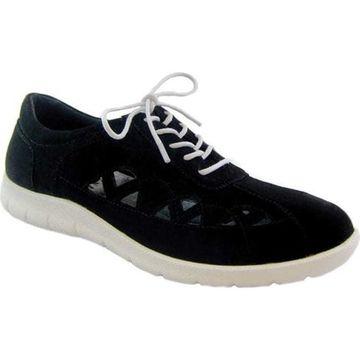 Beacon Shoes Women's Toby Sneaker Black Lamy Polyurethane