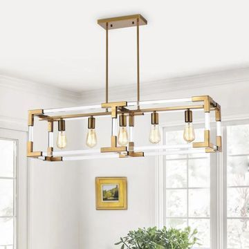 Warehouse of Tiffany Turido Brass 5-light Chandelier (Brass)
