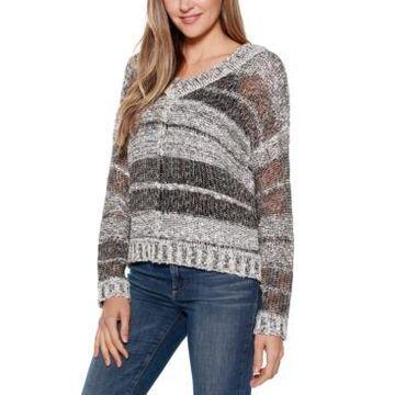 Belldini Black Label Long Sleeve Drop Shoulder Striped Pullover