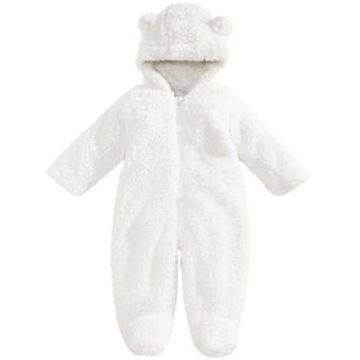First Impressions Baby Boys & Girls Hooded Footed Faux-Sherpa Bunting Snowsuit, Created for Macy's