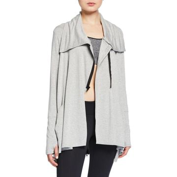French Terry Drape Active Jacket