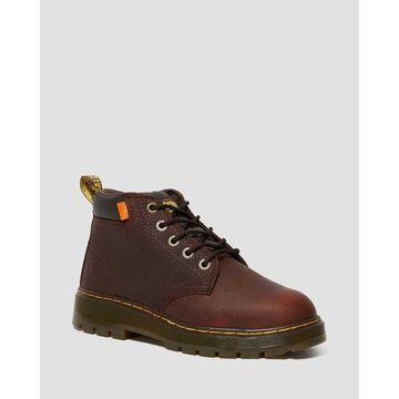 Dr. Martens, Men's Grader Extra Wide Internal Met Guard Leather Boots in Light Teak, Size 10