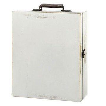 Lillian Rose Antique White Wine Box, Blank