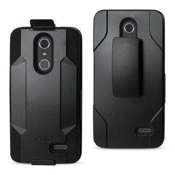 Zte Grand X4 3-in-1 Hybrid Heavy Duty Holster Combo Case In Black