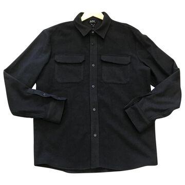 Apc \N Brown Wool Shirts