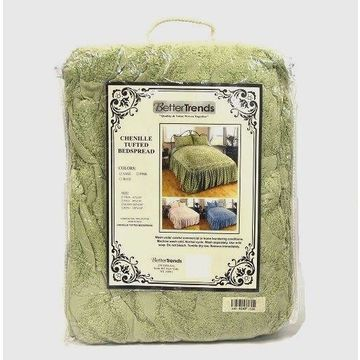 Better Trends Chenille Tufted Bedspread in Sage - Full