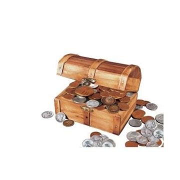 American Coin Treasures Historic Wooden Treasure Chest with At Least 50 Old U.s. Mint Coins