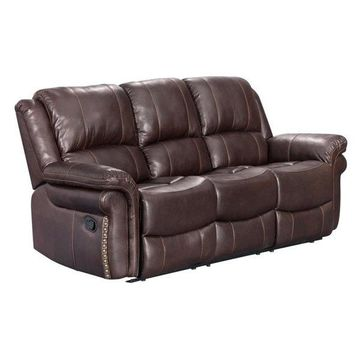Sunset Trading Glorious Dual Reclining Sofa in Regal Brown