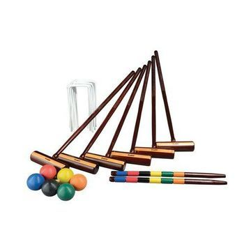 Franklin Sports Six Player Croquet Set Expert Free Shipping