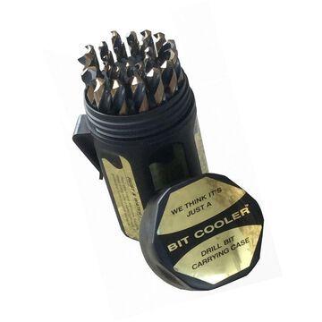 Drill America DWD29J-CO-PC Qualtech 29 Piece Cobalt Steel Jobber Length Drill...