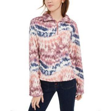 Self Esteem Juniors' Tie-Dye Sherpa Pullover