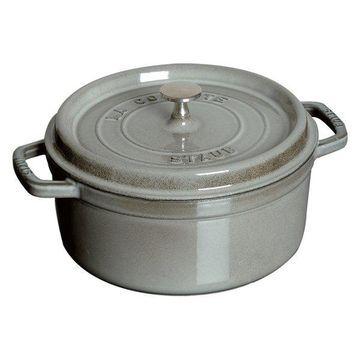 Staub Cast Iron 2.75-qt Round Cocotte - Graphite Grey
