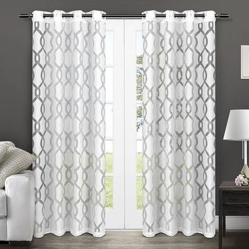 Exclusive Home Rio Burnout Sheer Window Curtains