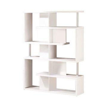 Coaster Company 5 - Tier Bookcase White and Chrome