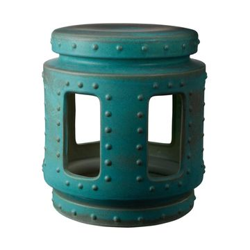 LS Dimond Home Copper Patina Throne Stool