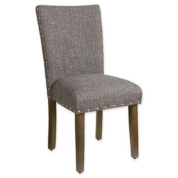 Homepop Heathered Tweed Parsons Dining Chair In Dark Grey Slate