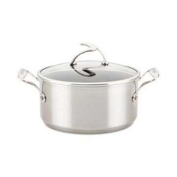 Circulon SteelShield S-Series Stainless Steel Nonstick Saucepan with Lid, 4-Quart, Silver