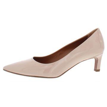 Aquatalia Womens Marianna Patent Leather Dress Kitten Heels