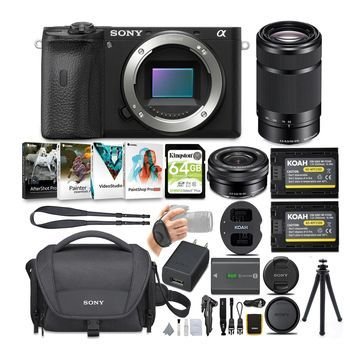 Sony Alpha a6600 APS-C Mirrorless ILC Bundle with 16-50mm and 55-210mm Lenses