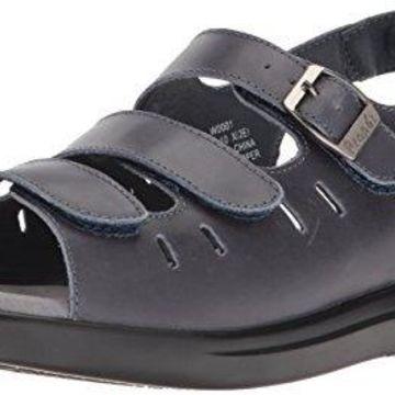 Propet Women's Breeze Walker Sandal, Blue, 10 Medium