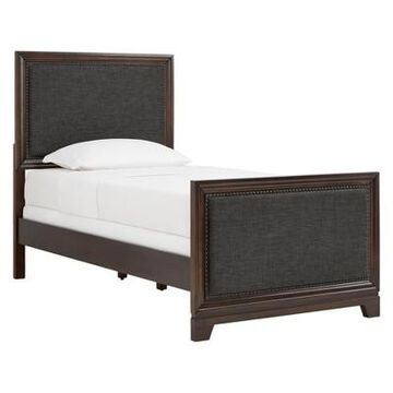 Inspire Q Hampton Wood Beds with Upholstered Panels