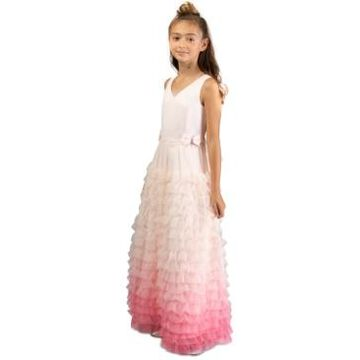 Bonnie Jean Big Girls Ruffled Ombre Gown