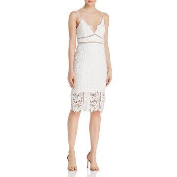 Bardot Womens Botanica Lace Overlay Sheath Party Dress