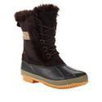 BEARPAW Tess Waterproof Suede Cold Weather Duck Boot with NeverWet - Brown