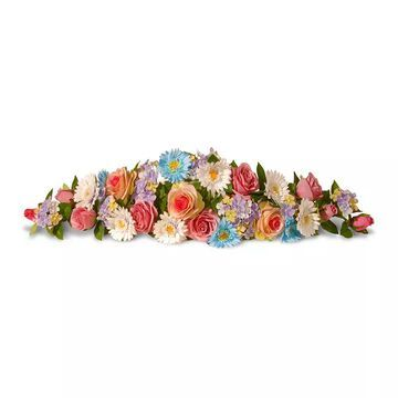 National Tree Company Artificial Spring Flowers Swag Garland, Multicolor