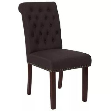 Flash Furniture Upholstered Dining Chair In Brown
