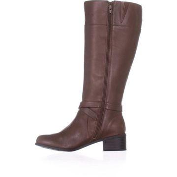 Giani Bernini Womens Reeva Leather Closed Toe Knee High