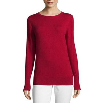 Worthington Long Sleeve Crew Neck Sweater - Tall