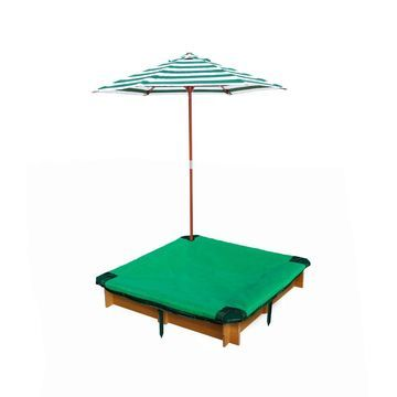 Gorilla Playsets Interlocking Sandbox with Cover and Umbrella