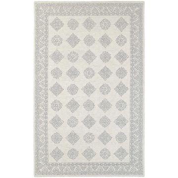 Persian Panel Traditional Loop Pile Grey/ Beige Rug (8' x 10') - 8' x 10'