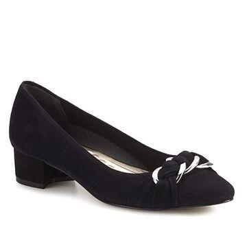 Walking Cradles Hutton (Black Suede) Women's Shoes